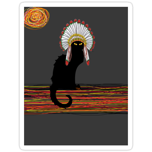little Indian chief kitty cat  by Tia Knight