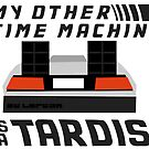 My Other Time Machine is a Tardis - Sticker by Jacob Johnson