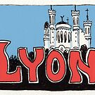 Travel sticker: Lyon The Basilica of Notre-Dame de Fourvière by Joel Tarling