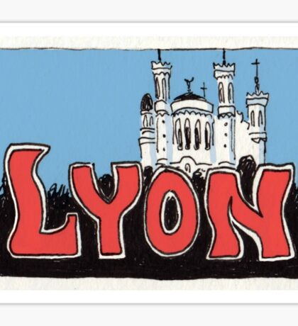 Travel sticker: Lyon The Basilica of Notre-Dame de Fourvière Sticker