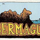 Travel sticker: Bermagui Camel Rock by Joel Tarling