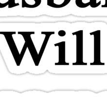 My Husband Will Become A Writer  Sticker