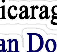 A Nicaraguan Can Do It Sticker