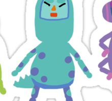 monsters x katamari Sticker