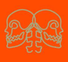 dual skulls by lerhone webb