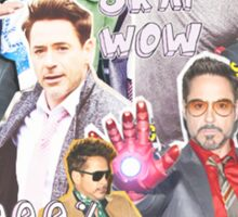 rdj collage Sticker