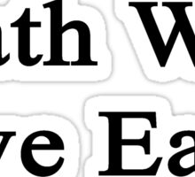 Math Will Save Earth  Sticker