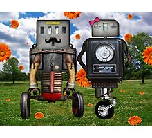 Mr. & Mrs. Robot The Day It Rained Daisies At The Park Photographic Print