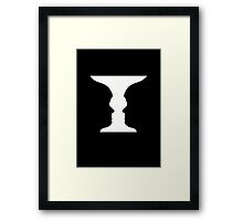 Two Faces illusion Framed Print