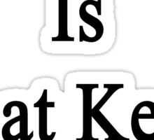 Water Polo Is What Keeps Me Going  Sticker