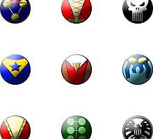 Hero Buttons Sticker Set #5 by NigelSpudCarrot