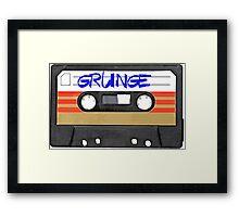 Grunge Music Framed Print