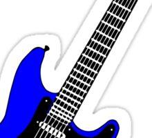 Strat blue Sticker