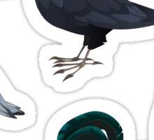 6 Bird Stickers Sticker