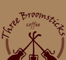 Three Broomsticks coffee Sticker
