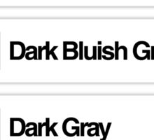 Brick Sorting Labels: Light Bluish Gray, Light Gray, Dark Bluish Gray, Dark Gray, Green Sticker