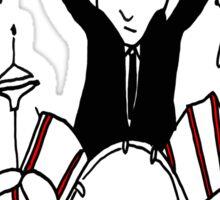 Crazy Drummer Sticker