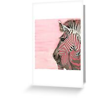 Zebra Pink and White Abstract Greeting Card