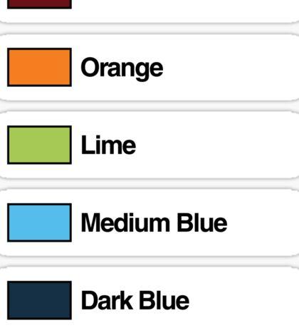 Brick Sorting Labels: Dark Red, Orange, Lime, Medium Blue, Dark Blue Sticker