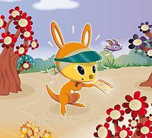 Roopert Kangaroo Delivery Expert (with Amelia) by BunyipTree