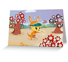 Roopert Kangaroo Delivery Expert (with Amelia) Greeting Card