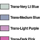 Brick Sorting Labels: Trans-Neon Yellow, Trans-Very Lt Blue, Trans-Medium Blue, Trans-Light Purple, Trans-Dark Pink by 9thDesignRgmt