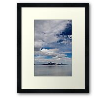 Lonely mountain Framed Print