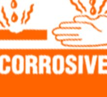 corrosive warning sign Sticker