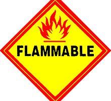 flammable waring signal by Federica Cacciavillani