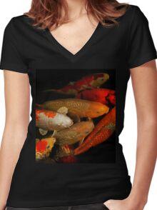 Koi Fish Group Women's Fitted V-Neck T-Shirt
