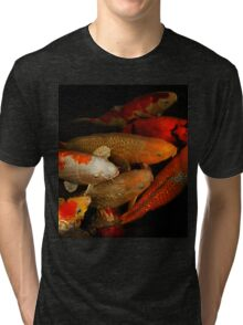 Koi Fish Group Tri-blend T-Shirt