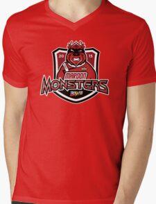 Trek.fm: Team Maroon Monsters Mens V-Neck T-Shirt