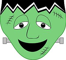 Cartoon Frankenstein Monster Face by mydeas