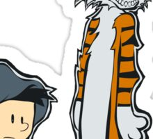 Darko & Hobbes Sticker Sticker