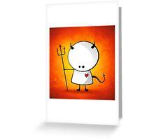 Evil boy Greeting Card