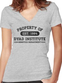 Property of Dyad Women's Fitted V-Neck T-Shirt