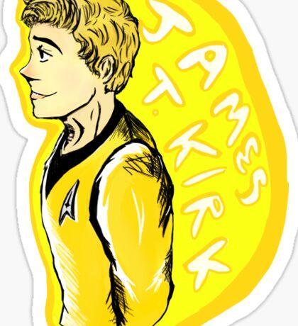 Kirk is a Cute Sticker