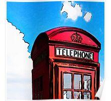 British Icon - Red Telephone Box Poster
