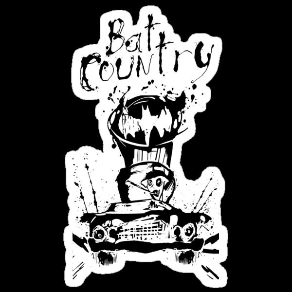 Batman's Fear & Loathing in Gotham Sticker by Littledeviltees