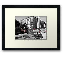 Cafe, Friedrichshain, Berlin, Germany Framed Print