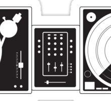 Black and White Turntables Sticker