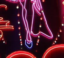 Suzie Wong's bar on Soi Cowboy (vertical) Sticker