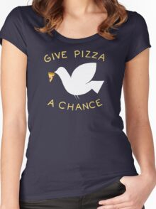 War & Pizza Women's Fitted Scoop T-Shirt