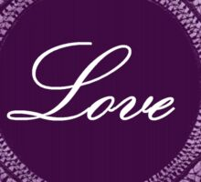 Purple vintage lace love  Sticker
