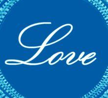 Blue vintage lace love  Sticker