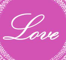 Pink vintage lace love  Sticker