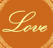 Gold vintage lace love 02 Sticker
