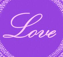 Purple vintage lace love 03 Sticker