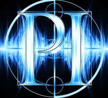 PI Radio Logo Sticker (Light Blue) Sticker