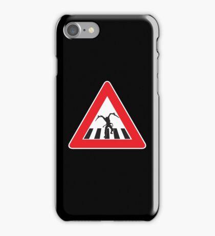 Caution - Necromorph Crossing iPhone Case/Skin